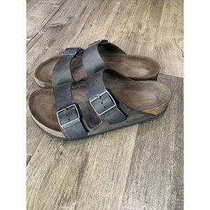 Birkenstock Arizona Iron Oiled Gray Leather 39